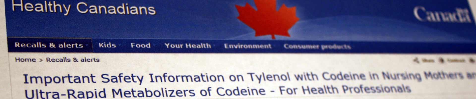 Health Canada bulletin